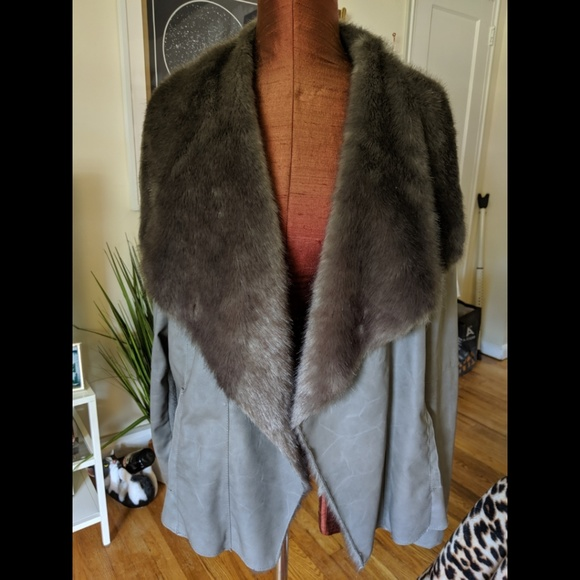 3f2ed4e33 New Look Inspire faux fur leather jacket